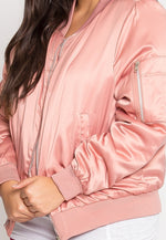 Plus Size Nevada Satin Jacket in Mauve