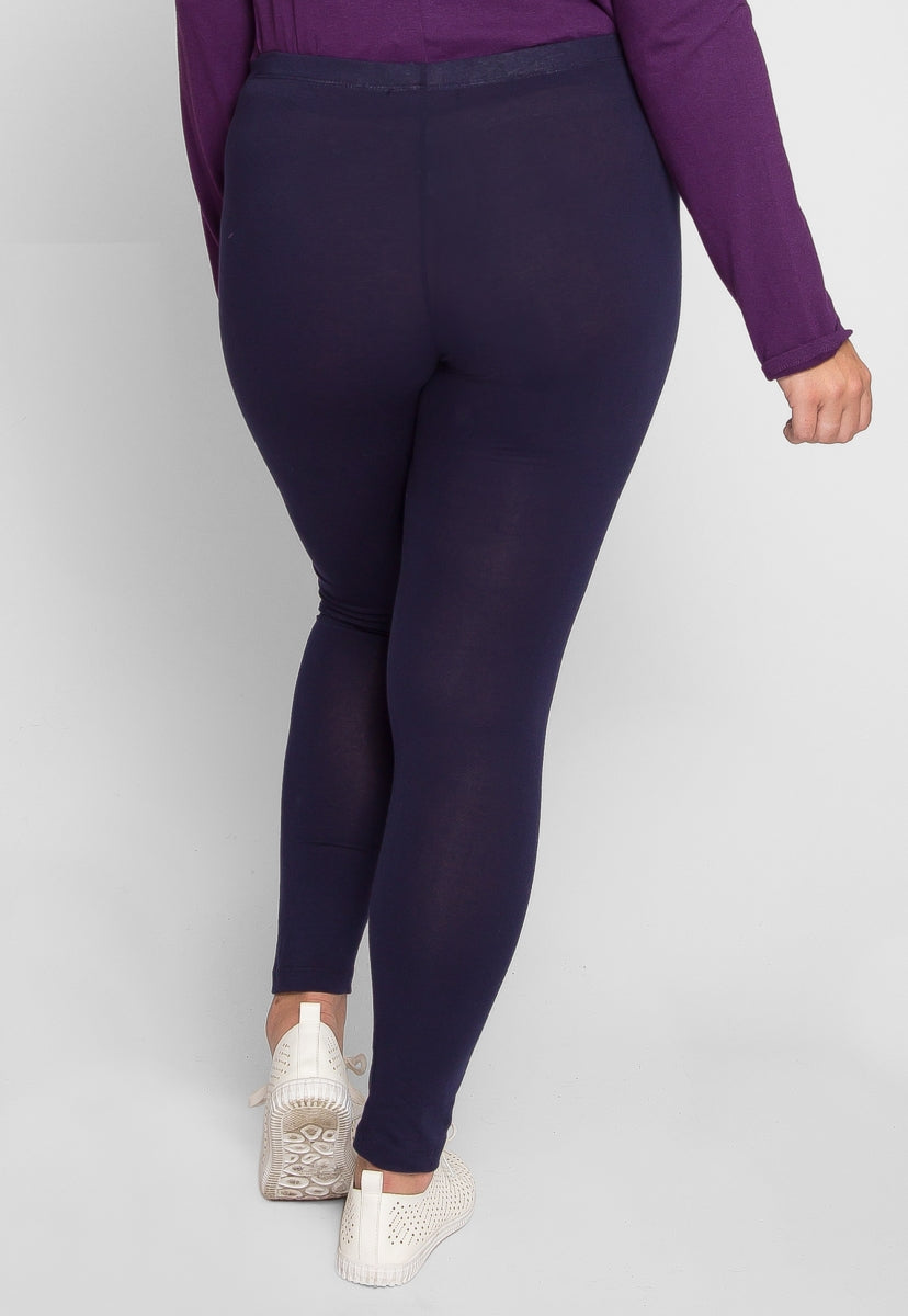 2bc752f7c763ea Plus Size The Basics Leggings in Navy | Wet Seal