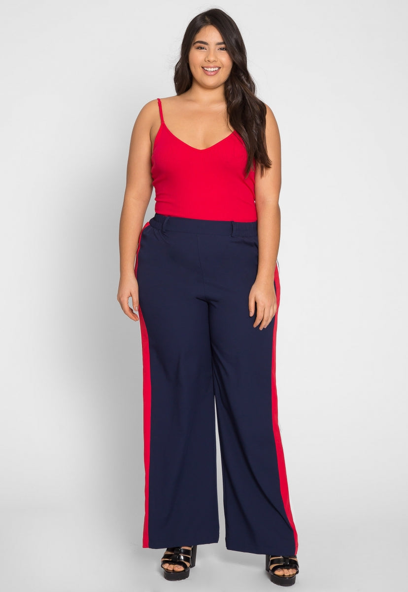 Plus Size Essentials Bodysuit in Red - Plus Tops - Wetseal