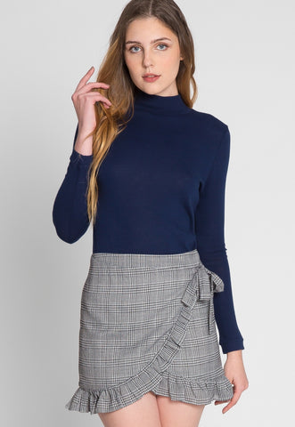 Chase Glen Plaid Ruffle Wrap Skirt