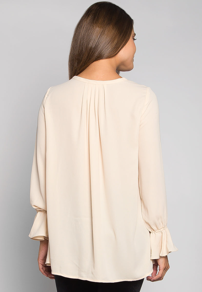 Like a Girl Pleated Button Front Top - Shirts & Blouses - Wetseal