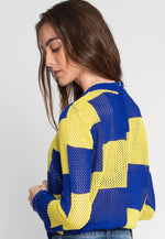 Physical Retro Color Block Sweater