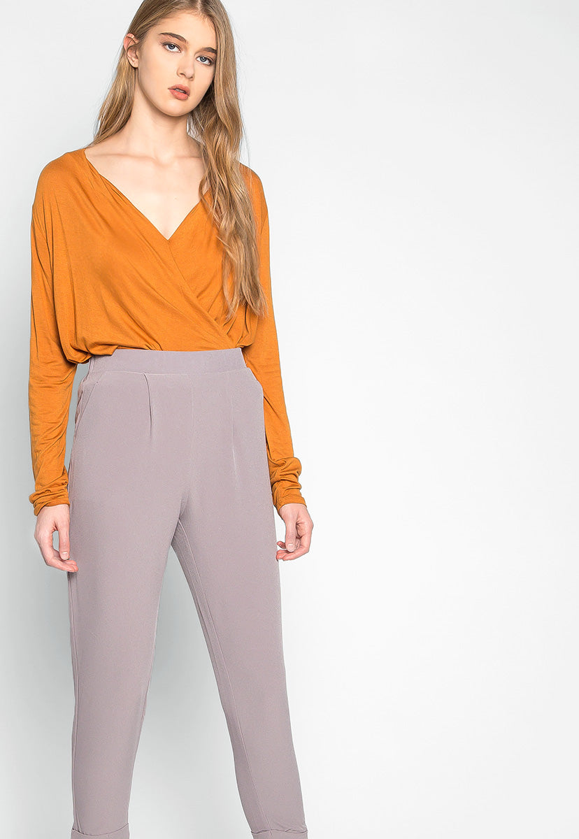 Never Stop Side Pockets Pants in Gray - Pants - Wetseal
