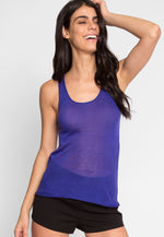Penny Luxe Tank Top in Blue