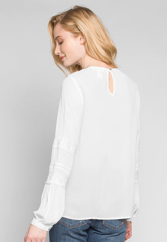Sunlight Lace Insert Blouse