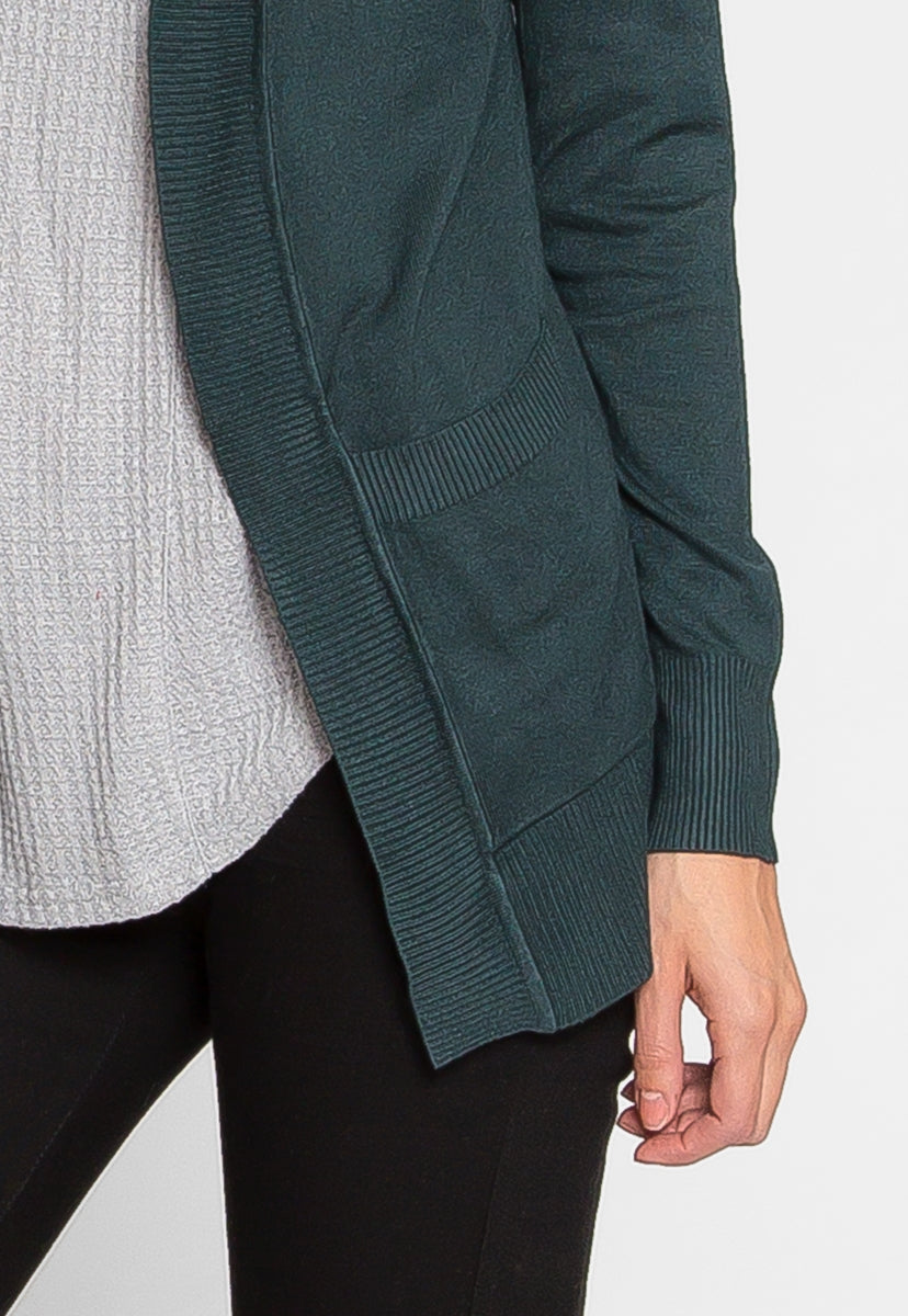 Stanford Cardigan in Hunter - Sweaters & Sweatshirts - Wetseal