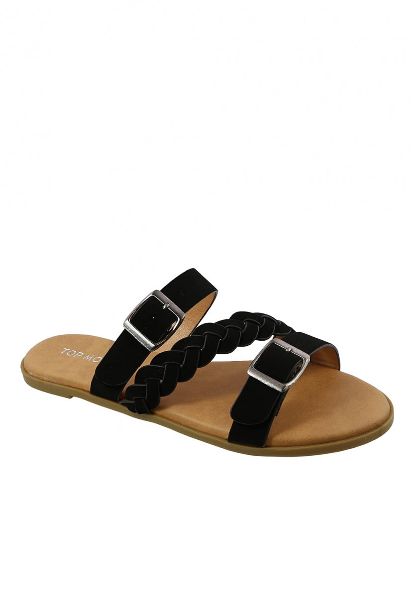 Croix Braided Strap Sandals - Shoes - Wetseal