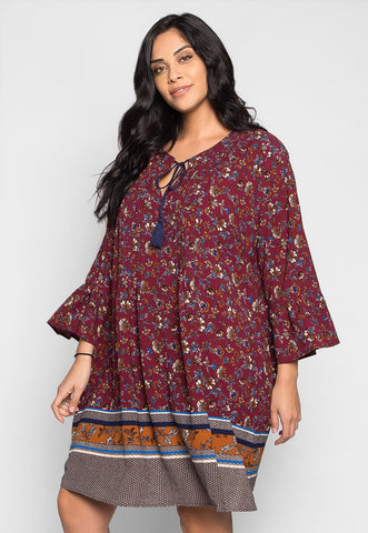 Plus Size Joplin Boho Printed Tunic Dress
