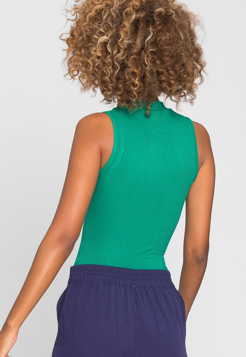 Like You Mock Neck Bodysuit in Green - Bodysuits - Wetseal
