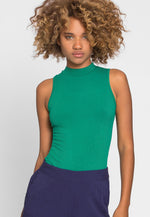 Like You Mock Neck Bodysuit in Green