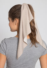 Pond Polka Dot Tail Scrunchie in Khaki