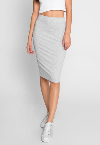 Totally Right Fitted Skirt in Gray