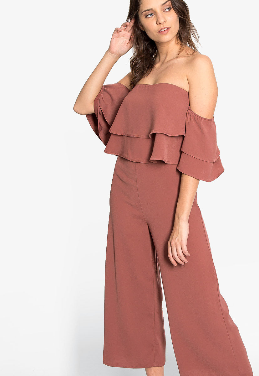 Remembering You Ruffle Jumpsuit in Pink - Rompers & Jumpsuits - Wetseal