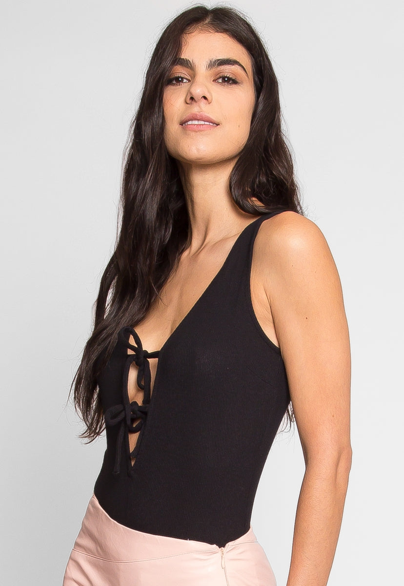 Get Back Knit Bodysuit in Black - Bodysuits - Wetseal