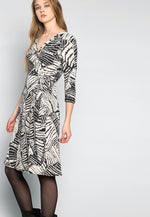 Scarlett Printed Wrap Dress