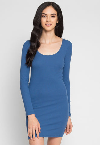 Quick Glimpse Knit Dress in Blue