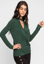 Retreat Surplice Top in Green