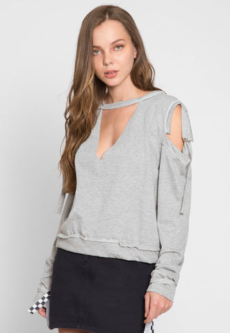 March Cold Shoulder Sweatshirt