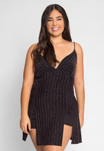 Plus Size Party Luxe Lurex Party Romper