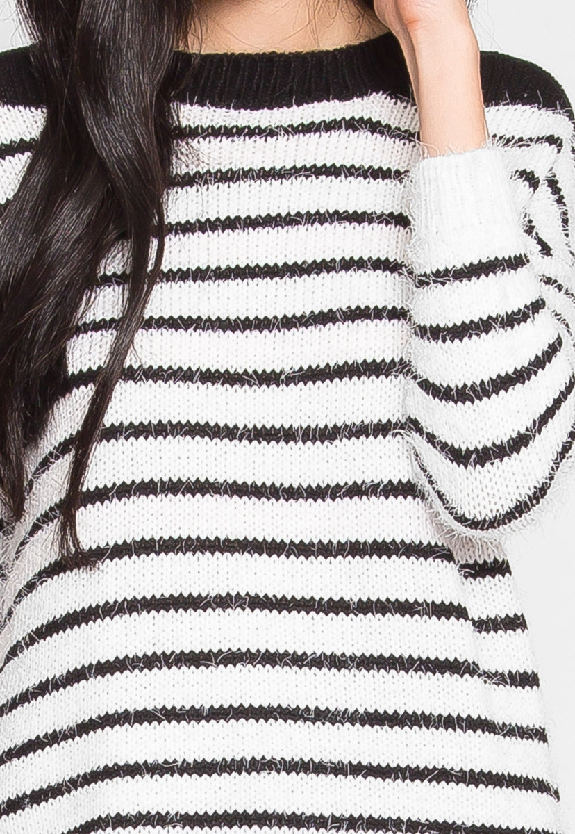 Good For Cuddles Striped Sweater - Sweaters & Sweatshirts - Wetseal