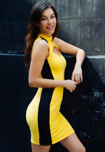 Streetcar Cut Out Dress in Yellow