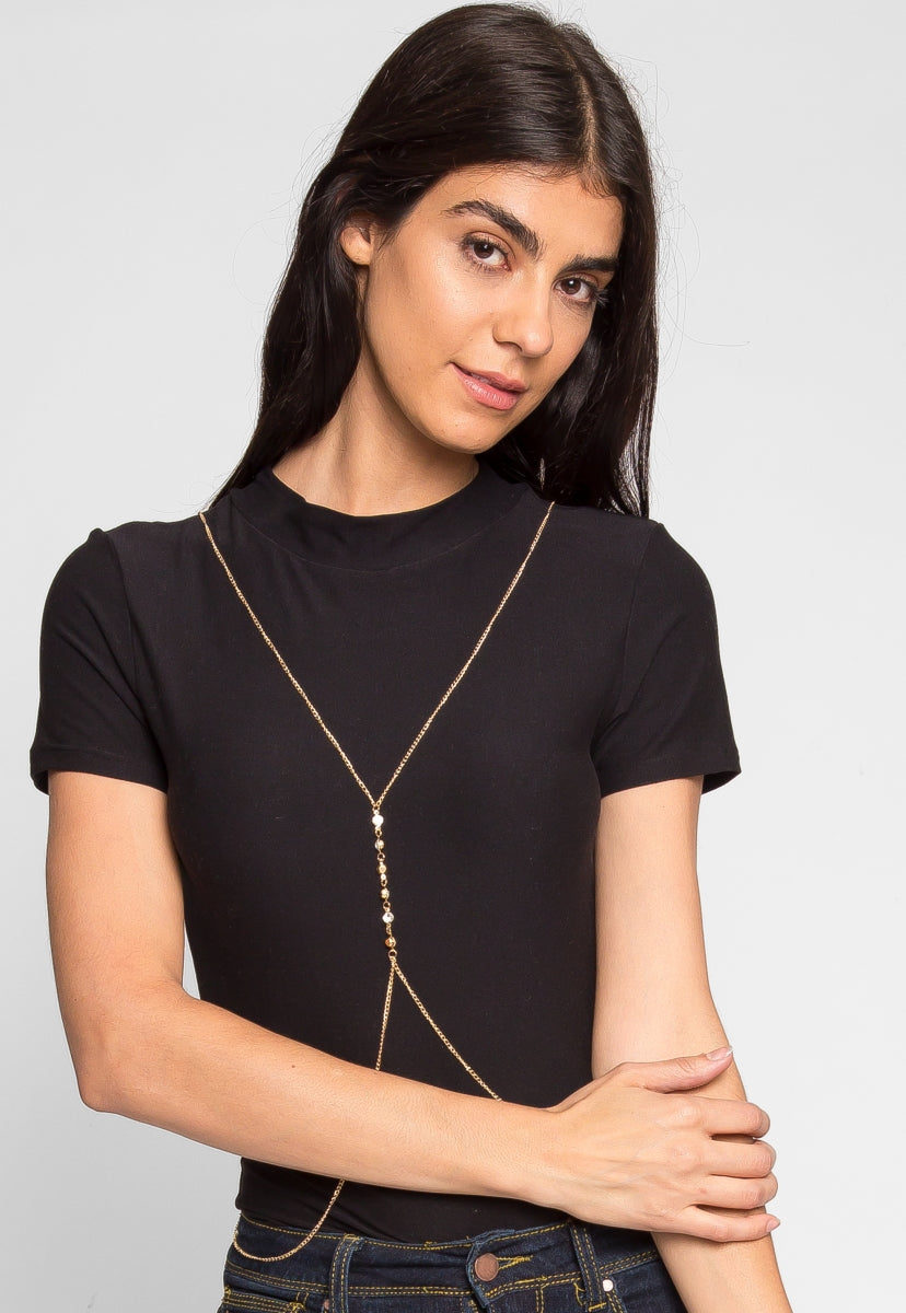 Daydreamer Body Chain in Gold - Jewelry - Wetseal