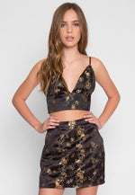 Brocade Two Piece Set in Black