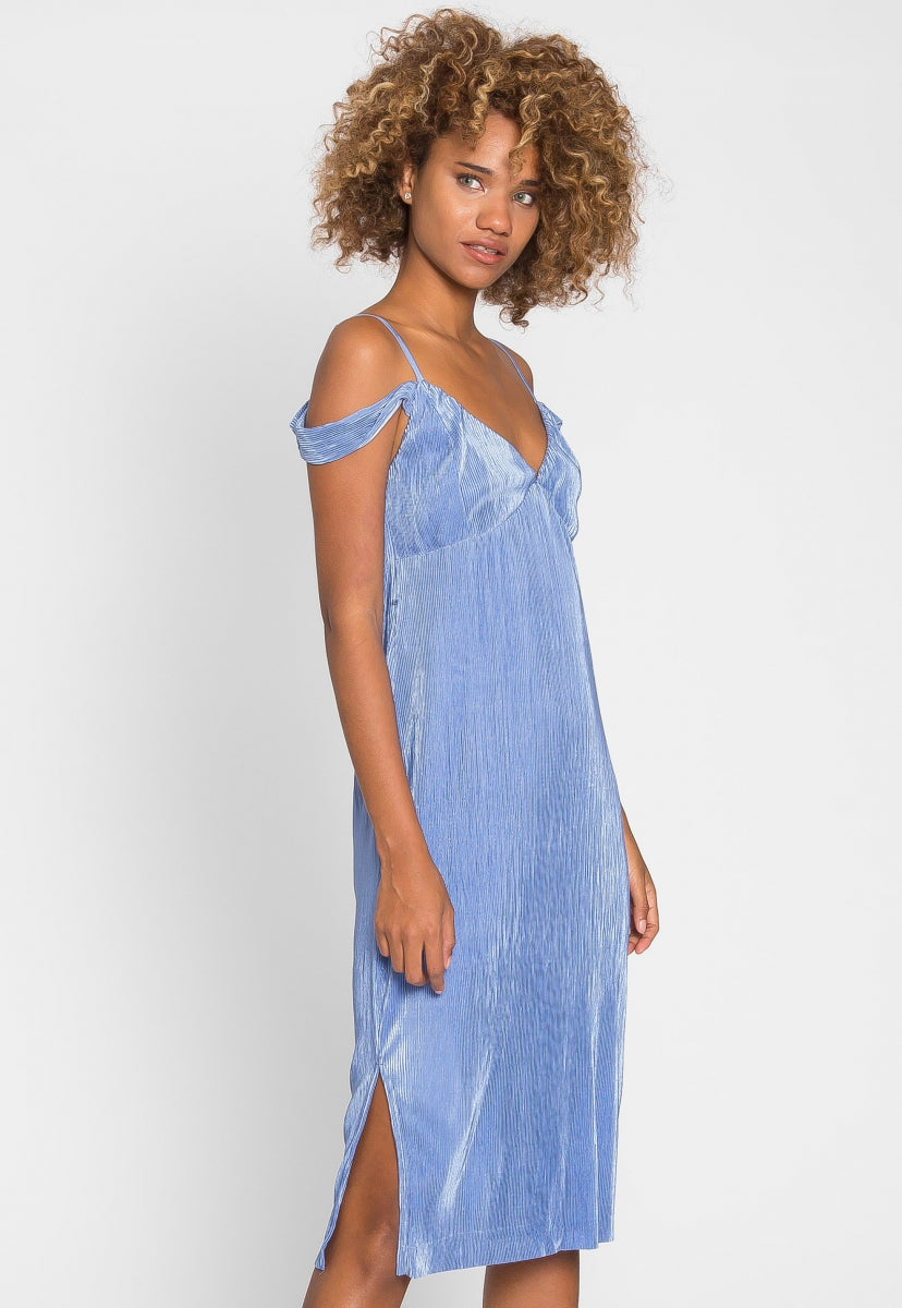 Empire Plisse Midi Dress - Dresses - Wetseal