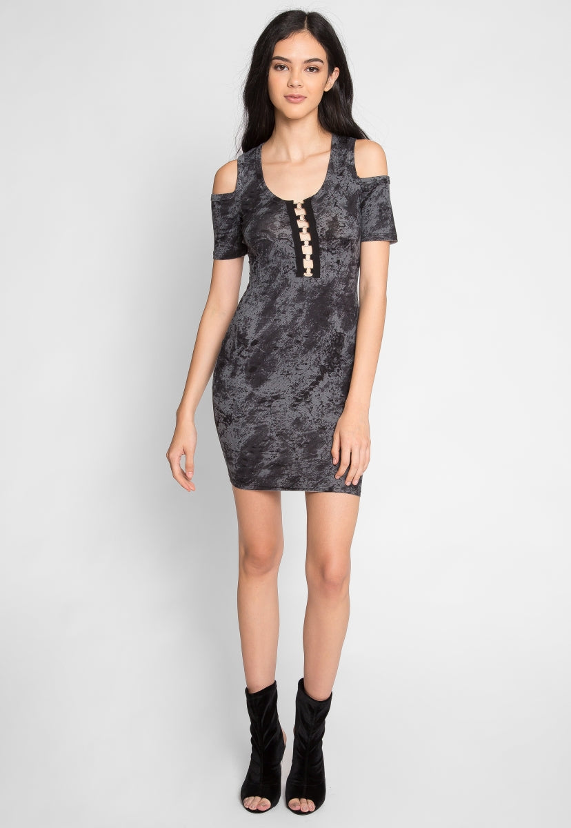New Day Printed Dress in Blue - Dresses - Wetseal