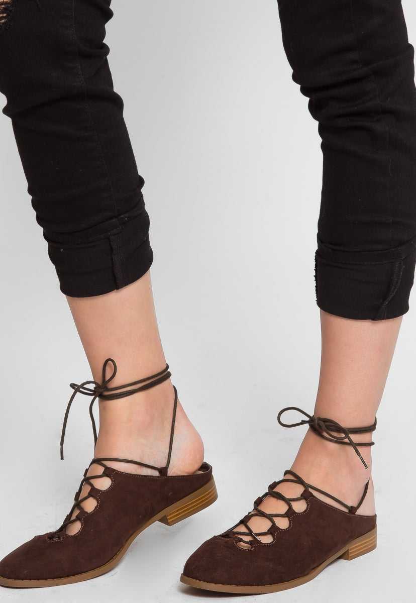 Valerie Mule Flats in Brown - Shoes - Wetseal