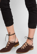 Valerie Mule Flats in Brown