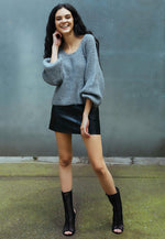 Arrows Oversized Crop Sweater