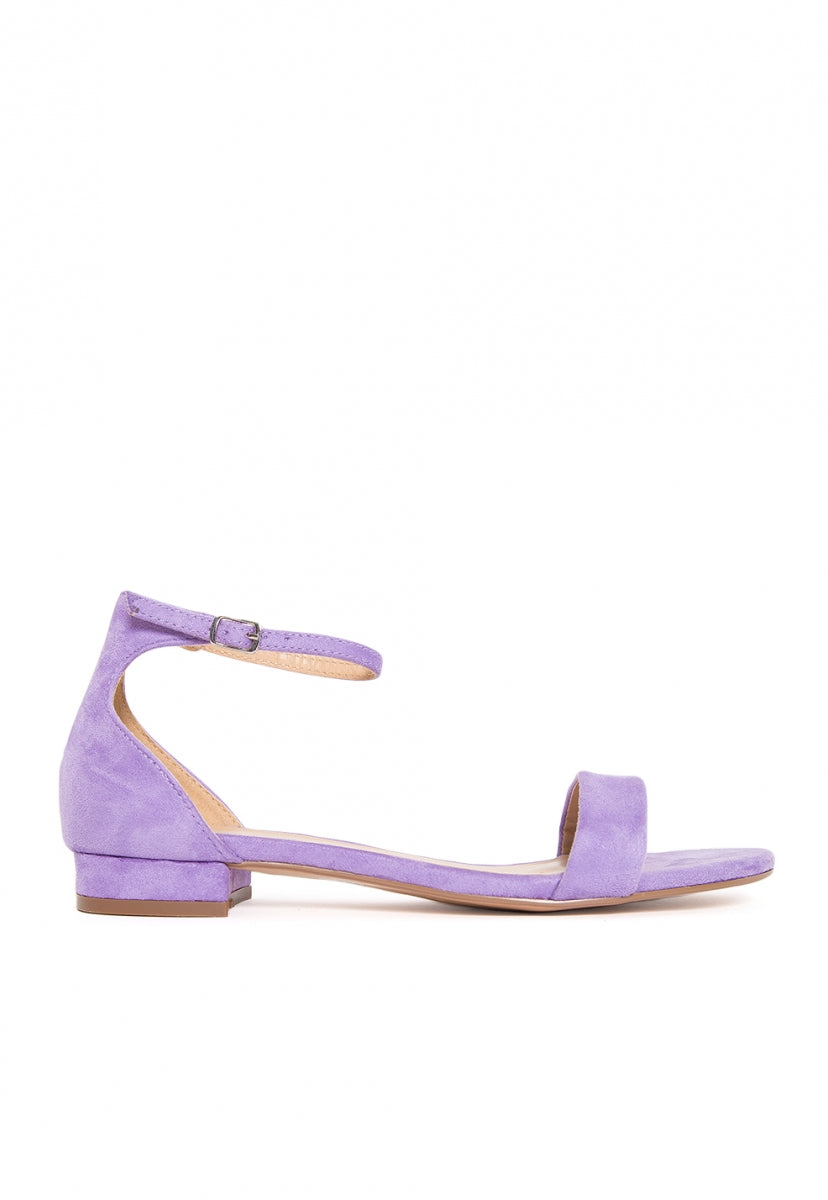 Highland Low Heel Sandals in Lavender - Shoes - Wetseal