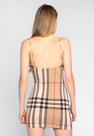 The One Plaid Bodycon Dress