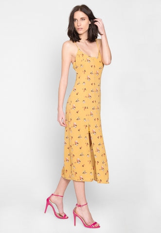 Amy Floral Slip Midi Dress