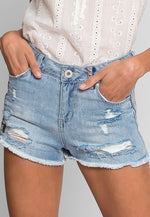 Alpine Patch Denim Shorts