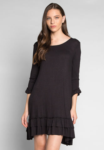 Secret Song Ruffle Hem Tunic Dress