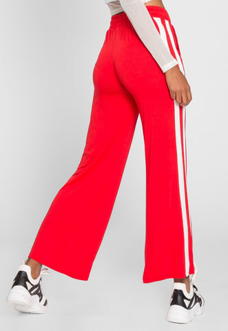 Morning Jog Active Knit Pants in Red