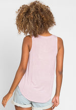 Soft Knit Tank Top in Light Lavender