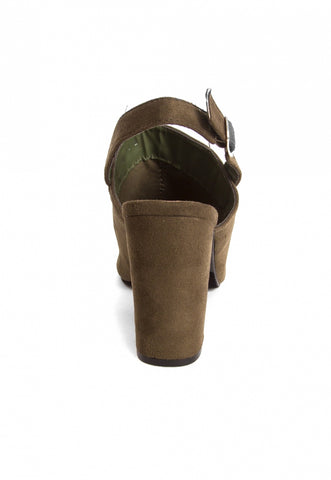 Sparrow Slingback Booties in Olive