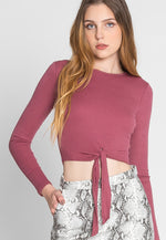 These Lips Crop Knit Top