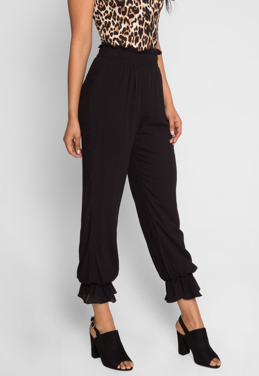 Overcast High Waist Pants in Black - Pants - Wetseal