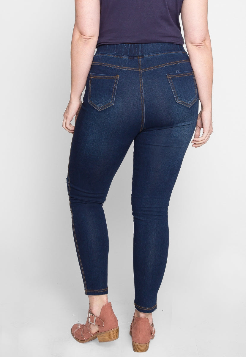 Plus Size Whisking Distressed Jeggings - Plus Bottoms - Wetseal