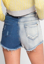 Arizona High Waist Denim Shorts in Blue