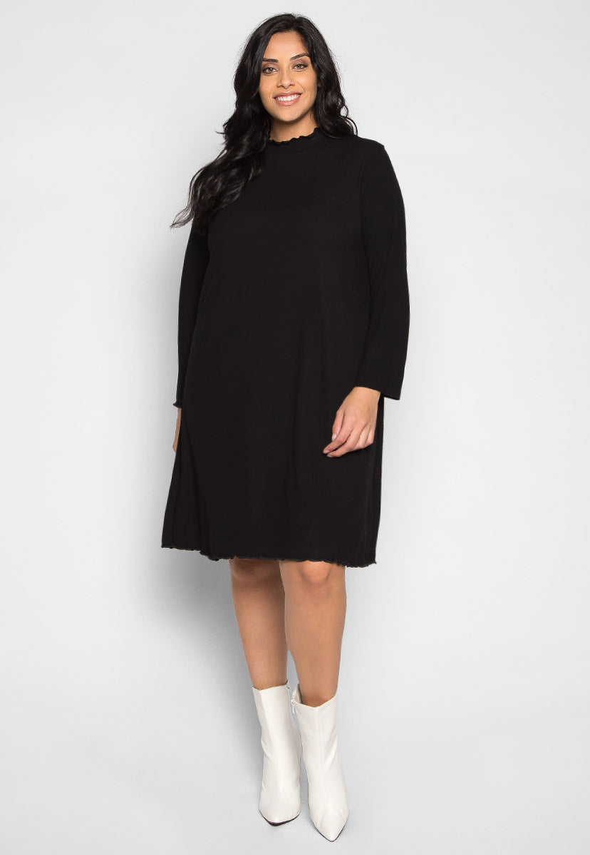 Plus Size About Me Rib Knit Mini Dress - Plus Dresses - Wetseal