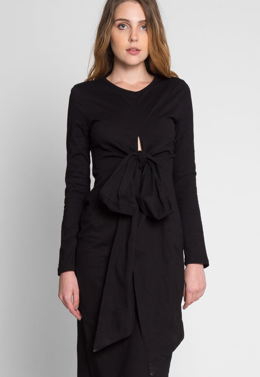 Jubilant Front Twist Midi Dress - Dresses - Wetseal