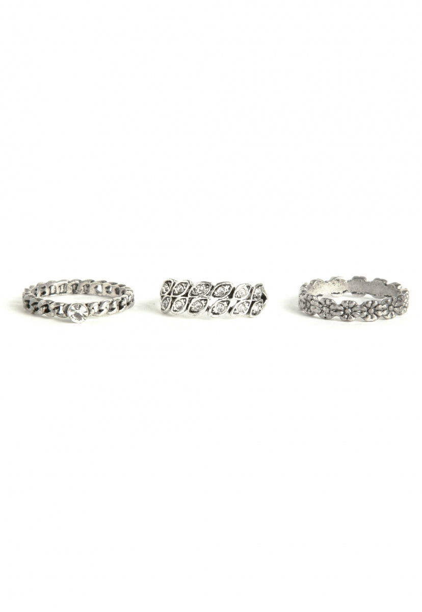Hearts Stacked Rings - Jewelry - Wetseal