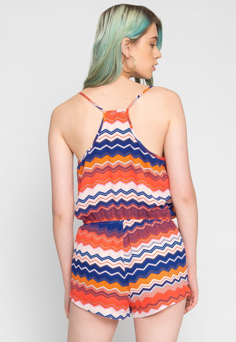 Mixed Reactions Chevron Romper - Rompers & Jumpsuits - Wetseal