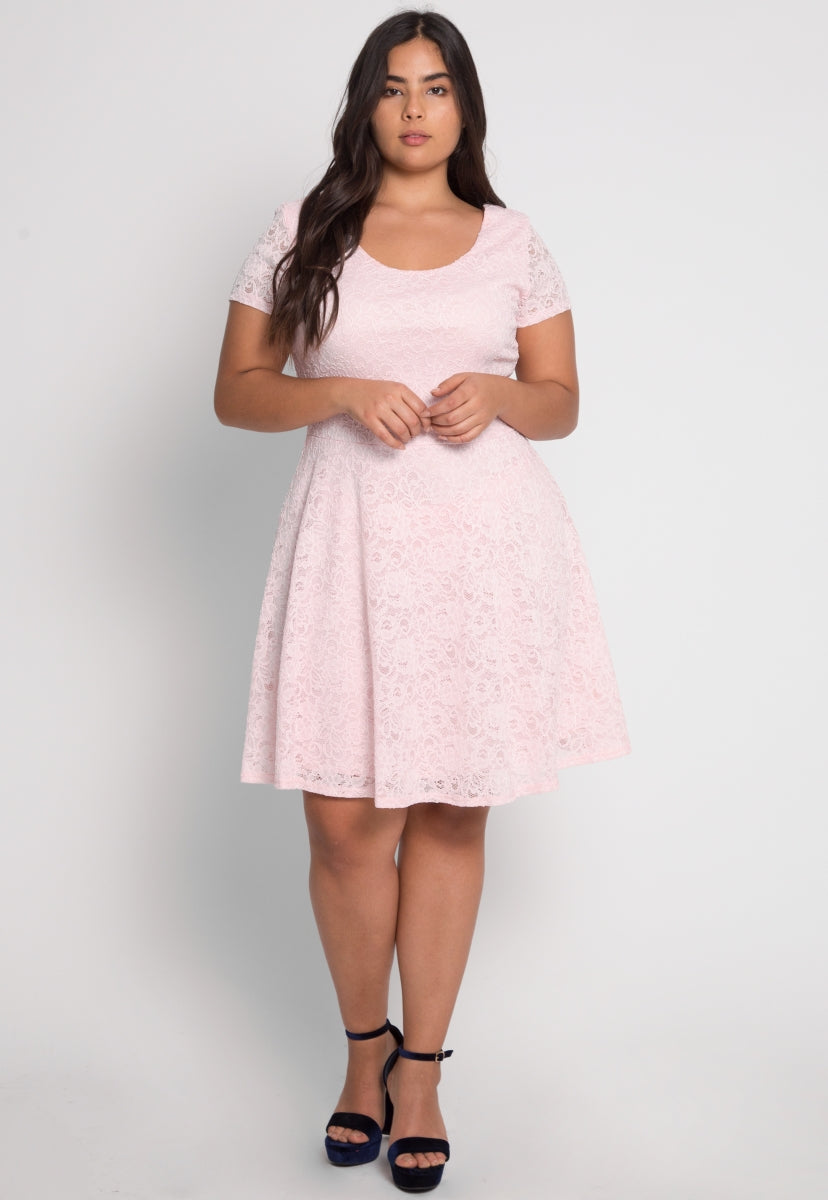Plus Size Melanie Fit and Flare Dress - Plus Dresses - Wetseal
