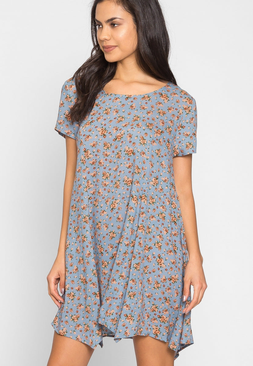 Zoey Floral Tunic Dress - Dresses - Wetseal